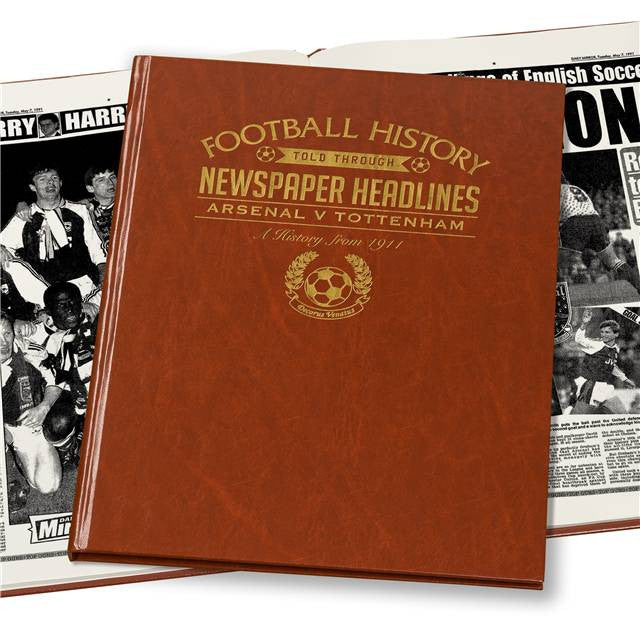 Personalised Arsenal V Spurs Derby Football Newspaper Book - Personalised Gift Solutions - 6