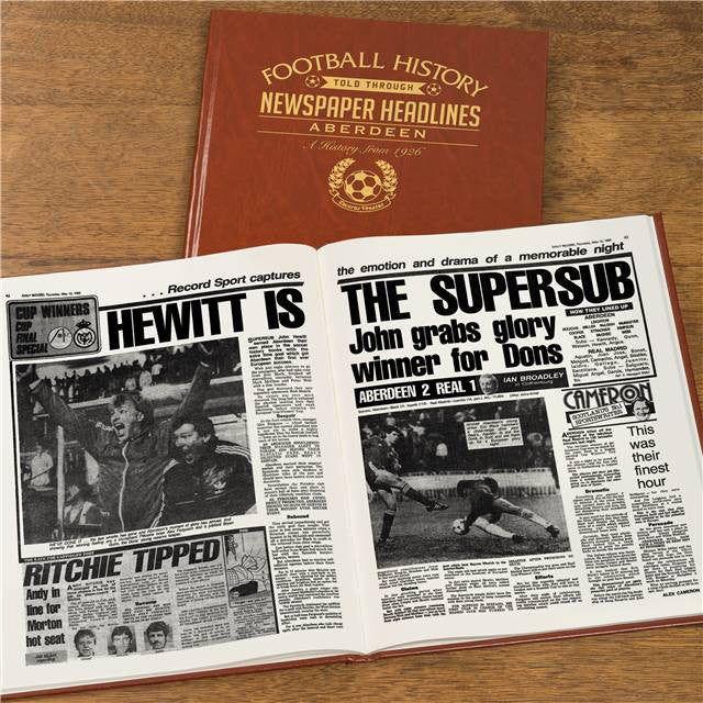 Personalised Aberdeen Football Newspaper Book - Personalised Gift Solutions - 7
