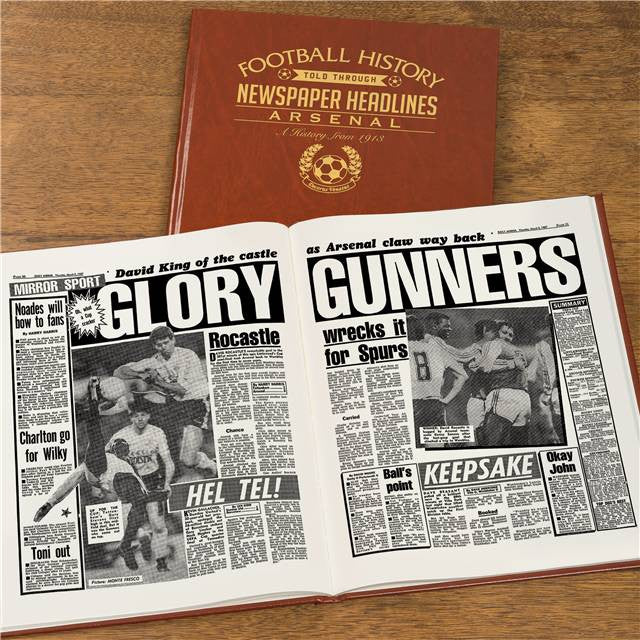 Personalised Arsenal Football Newspaper Book - Personalised Gift Solutions - 3
