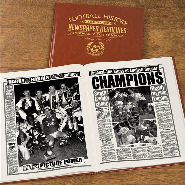 Personalised Arsenal V Spurs Derby Football Newspaper Book - Personalised Gift Solutions - 8