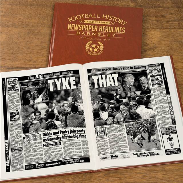 Personalised Barnsley Football Newspaper Book - Personalised Gift Solutions - 8