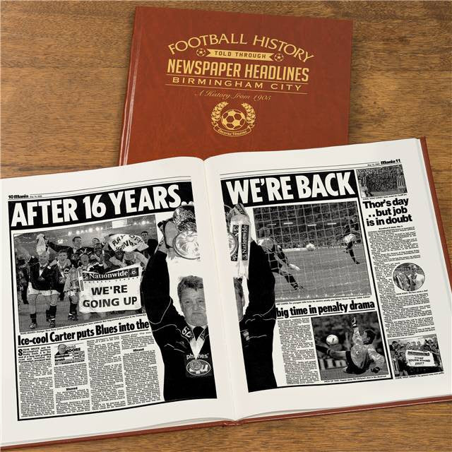 Personalised Birmingham Football Newspaper Book - Personalised Gift Solutions - 7