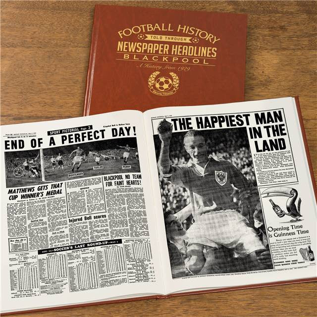 Personalised Blackpool Football Newspaper Book - Personalised Gift Solutions - 8