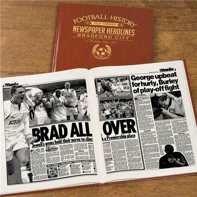 Personalised Bradford Football Newspaper Book - Personalised Gift Solutions - 8