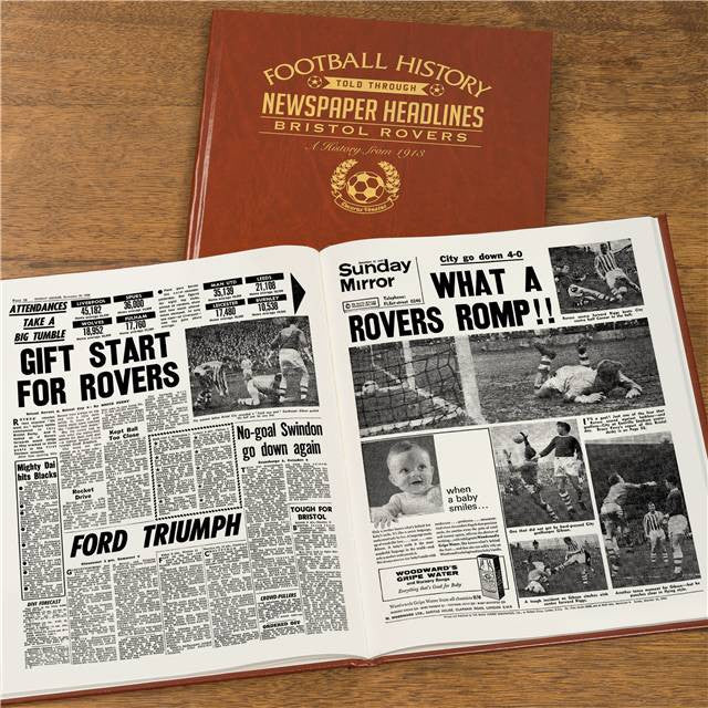 Personalised Bristol Rovers Football Newspaper Book - Personalised Gift Solutions - 8