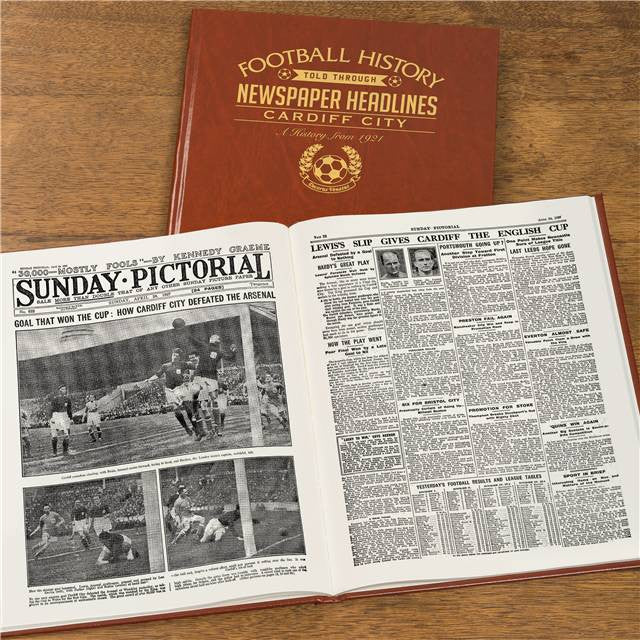 Personalised Cardiff Football Newspaper Book - Personalised Gift Solutions - 8
