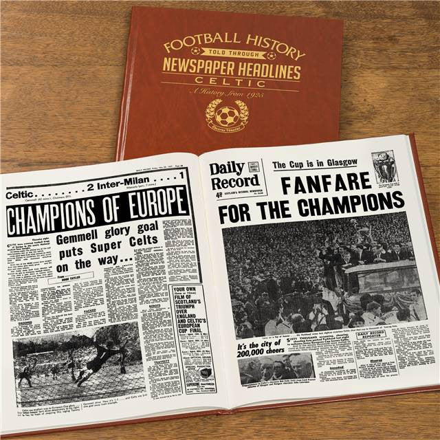 Personalised Celtic Football Newspaper Book - Personalised Gift Solutions - 8