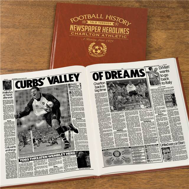 Personalised Charlton Football Newspaper Book - Personalised Gift Solutions - 8
