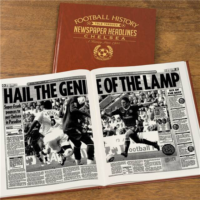 Personalised Chelsea Football Newspaper Book - Personalised Gift Solutions - 8