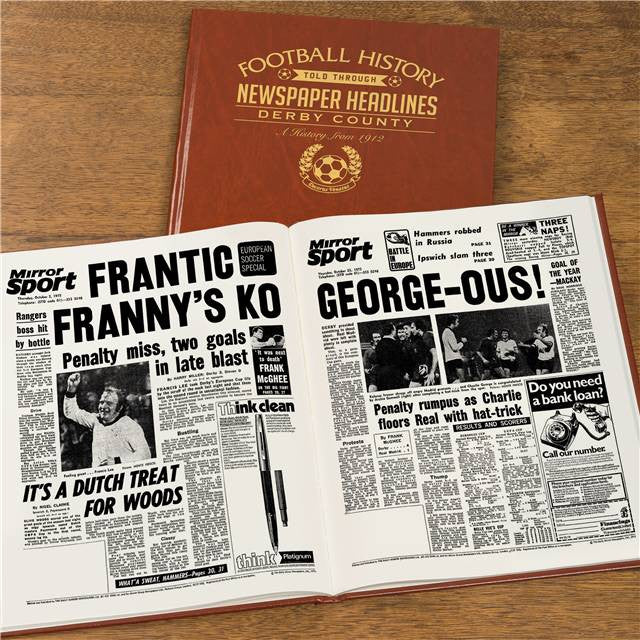 Personalised Derby Football Newspaper Book - Personalised Gift Solutions - 7