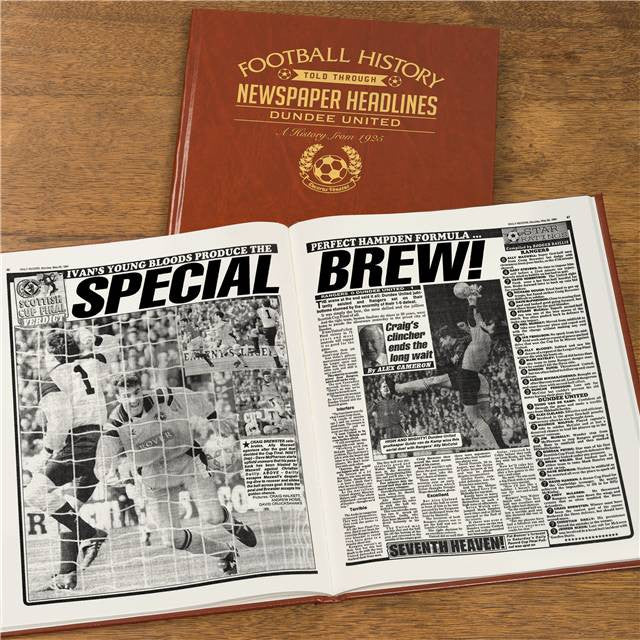 Personalised Dundee Utd Football Newspaper Book - Personalised Gift Solutions - 8