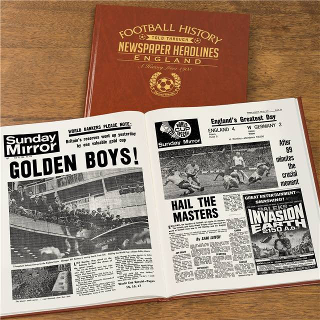 Personalised England Football Newspaper Book - Personalised Gift Solutions - 5
