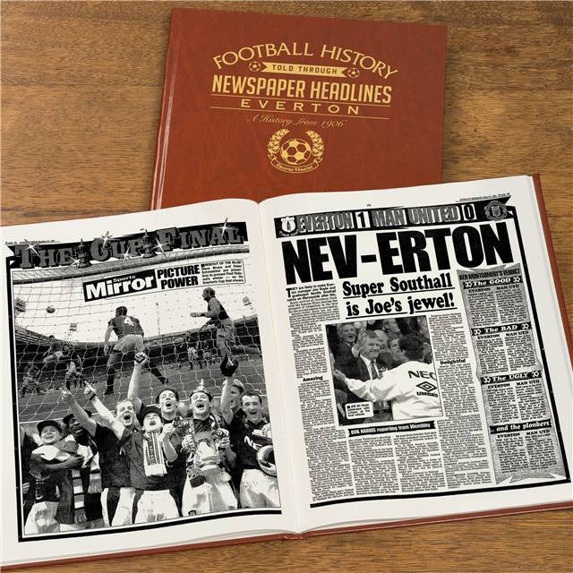 Personalised Everton Football Newspaper Book - Personalised Gift Solutions - 6