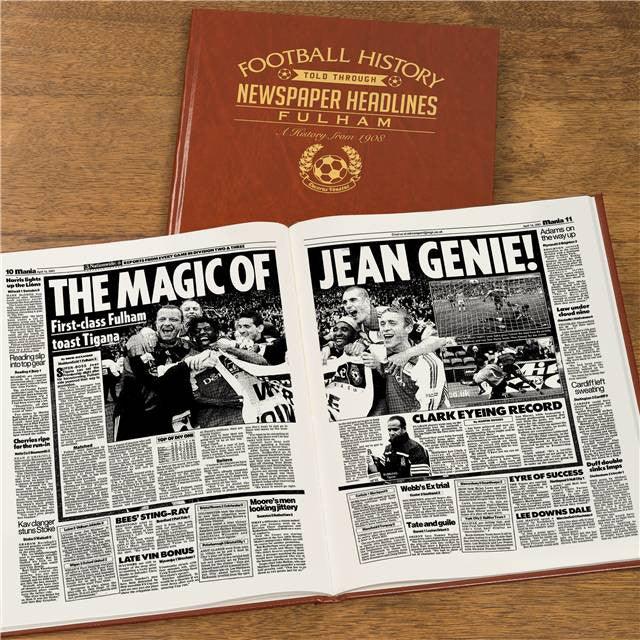 Personalised Fulham Football Newspaper Book - Personalised Gift Solutions - 8