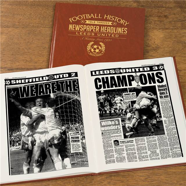 Personalised Leeds Football Newspaper Book - Personalised Gift Solutions - 7