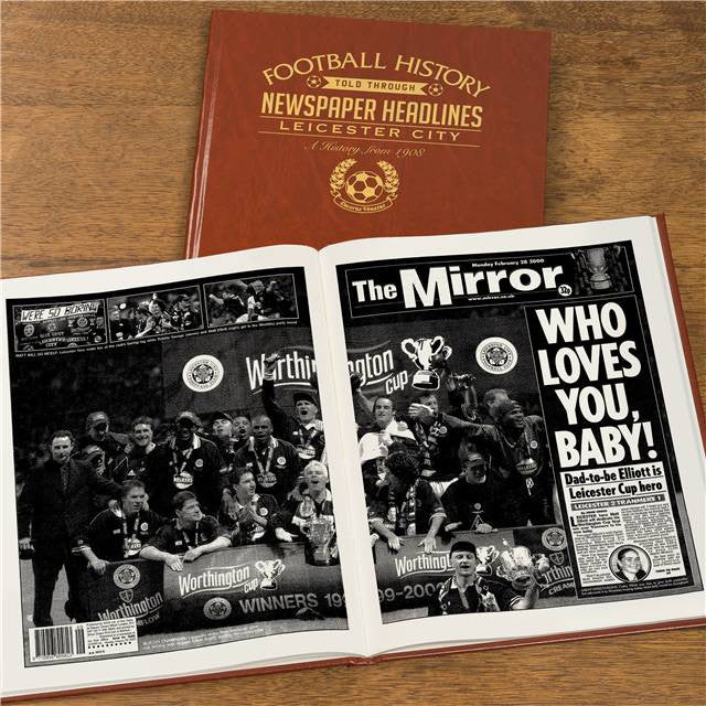 Personalised Leicester Football Newspaper Book - Personalised Gift Solutions - 8