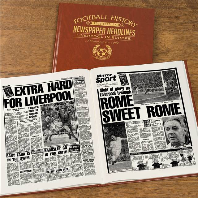 Personalised Liverpool Europe Football Newspaper Book - Personalised Gift Solutions - 8