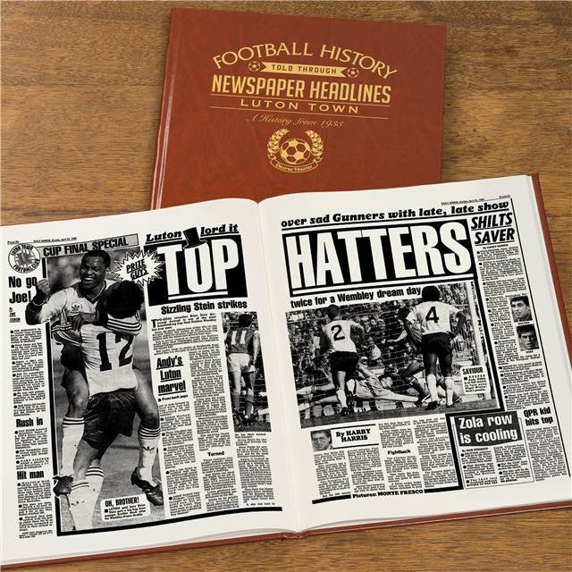 Personalised Luton Football Newspaper Book - Personalised Gift Solutions - 8