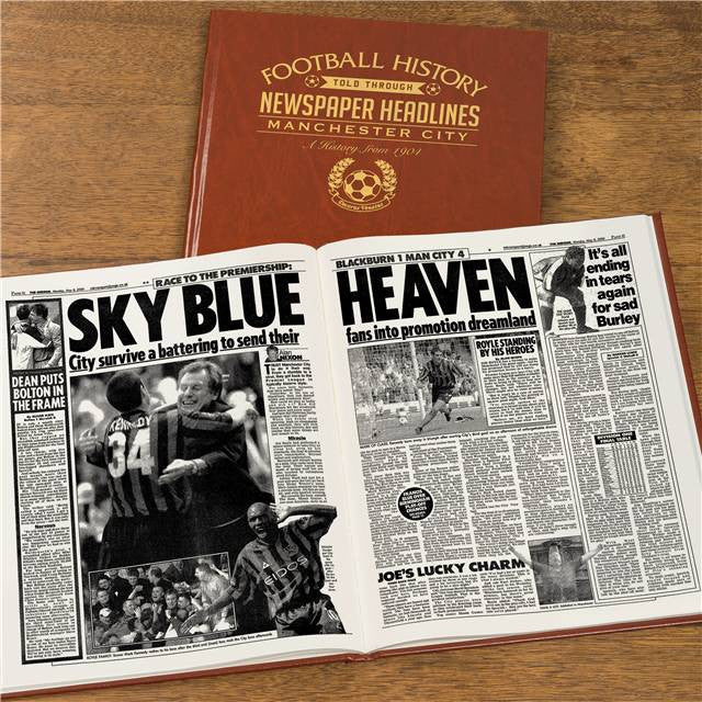Personalised Manchester City Football Newspaper Book - Personalised Gift Solutions - 8