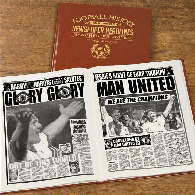 Personalised Manchester Utd Football Newspaper Book - Personalised Gift Solutions - 8