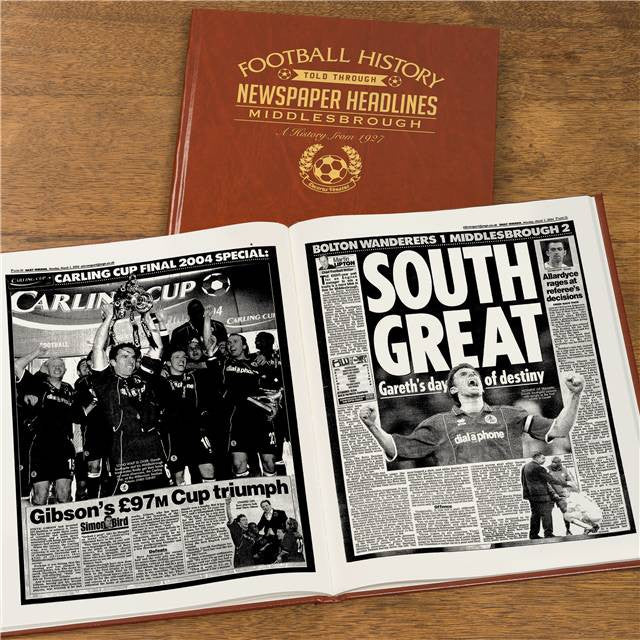 Personalised Middlesbrough Football Newspaper Book - Personalised Gift Solutions - 7