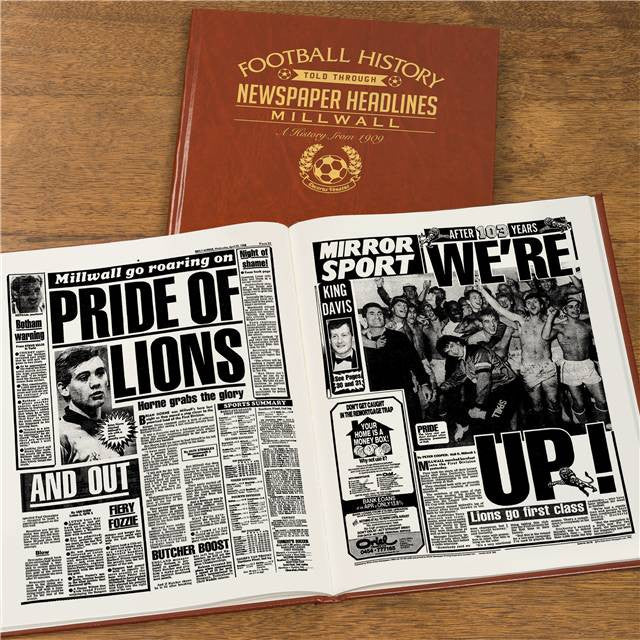 Personalised Millwall Football Newspaper Book - Personalised Gift Solutions - 7