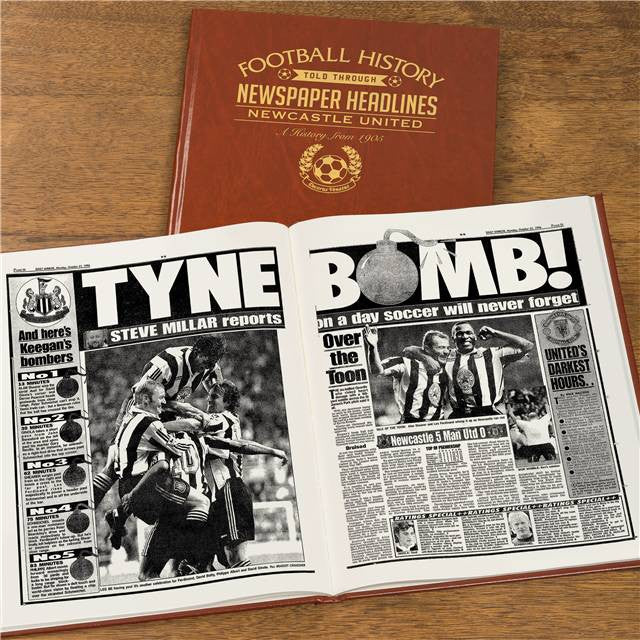 Personalised Newcastle Football Newspaper Book - Personalised Gift Solutions - 7