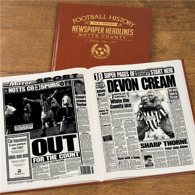 Personalised Notts County Football Newspaper Book - Personalised Gift Solutions - 8