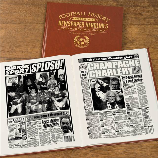 Personalised Peterborough Football Newspaper Book - Personalised Gift Solutions - 8