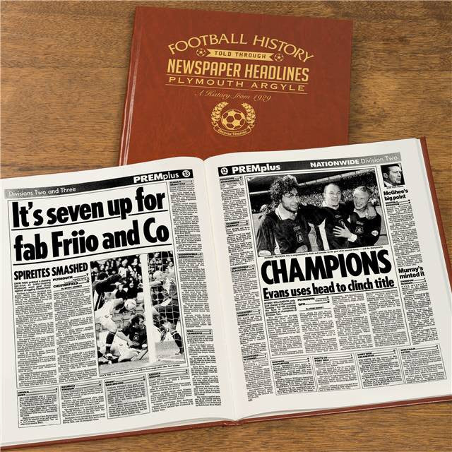 Personalised Plymouth Football Newspaper Book - Personalised Gift Solutions - 8