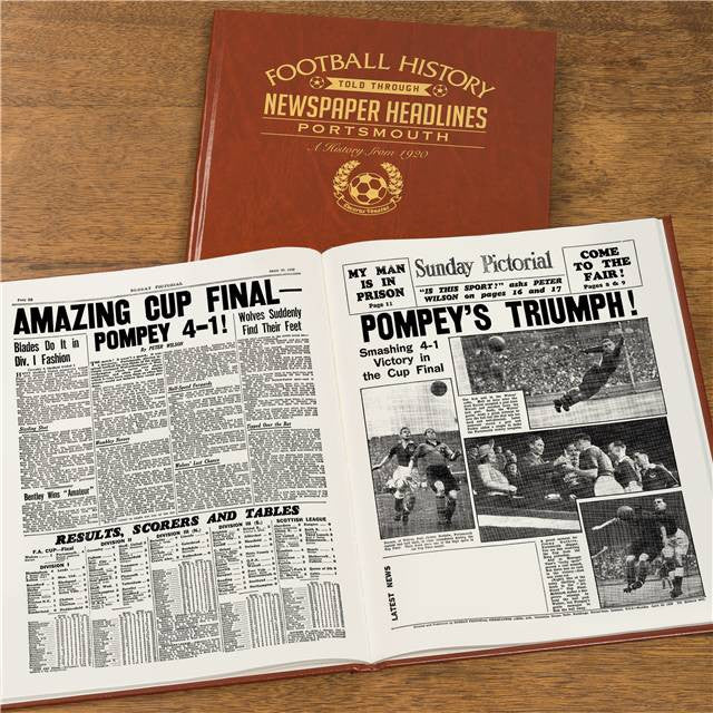 Personalised Portsmouth Football Newspaper Book - Personalised Gift Solutions - 8