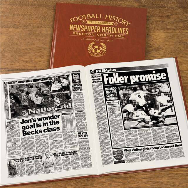 Personalised Preston Football Newspaper Book - Personalised Gift Solutions - 8
