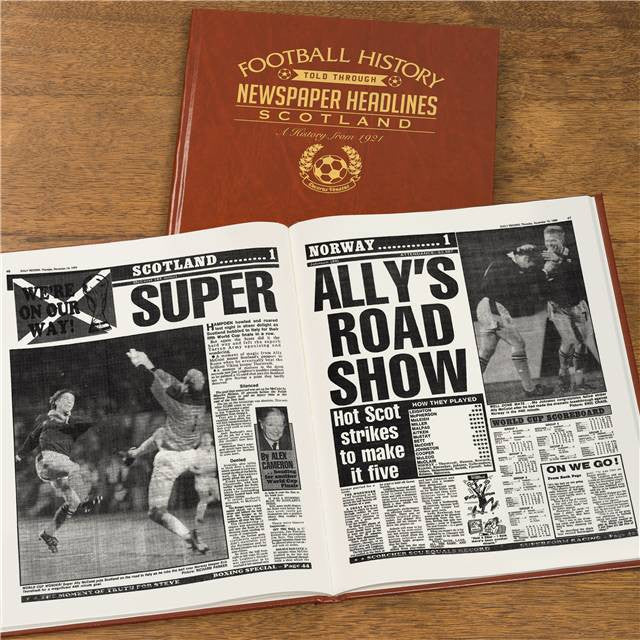 Personalised Scotland Football Newspaper Book - Personalised Gift Solutions - 8