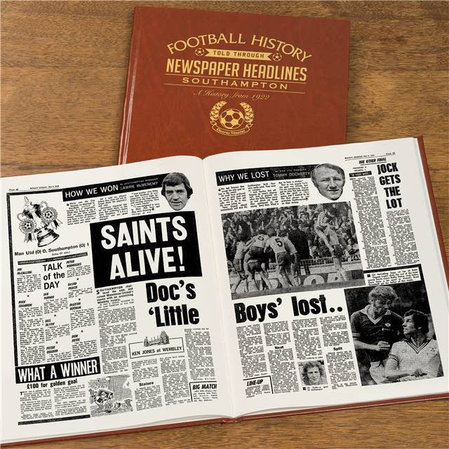 Personalised Southampton Football Newspaper Book - Personalised Gift Solutions - 8