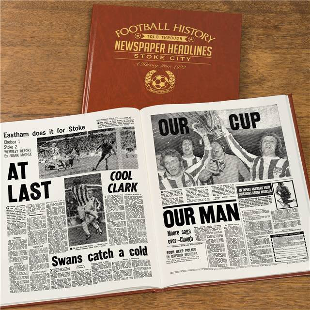 Personalised Stoke Football Newspaper Book - Personalised Gift Solutions - 8