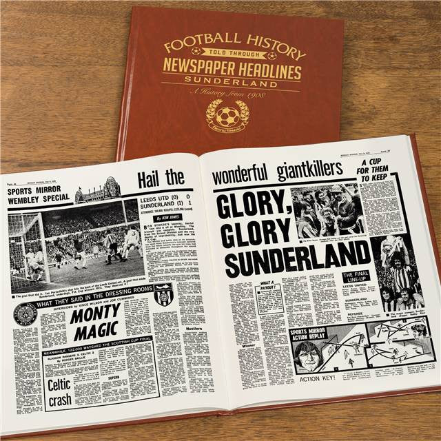 Personalised Sunderland Football Newspaper Book - Personalised Gift Solutions - 8