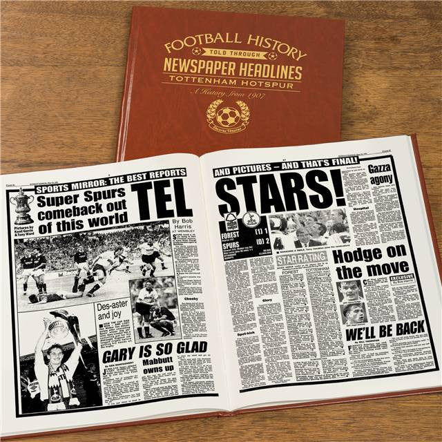 Personalised Tottenham Football Newspaper Book - Personalised Gift Solutions - 8
