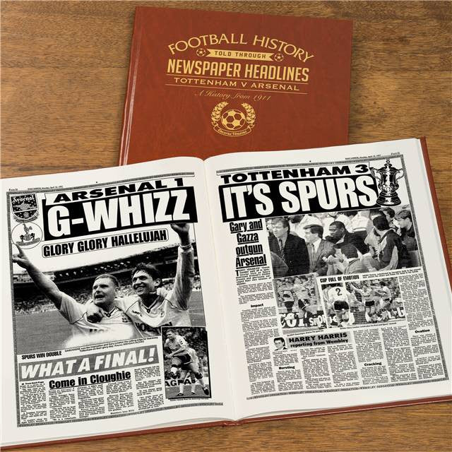 Personalised Spurs V Arsenal Derby Football Newspaper Book - Personalised Gift Solutions - 8