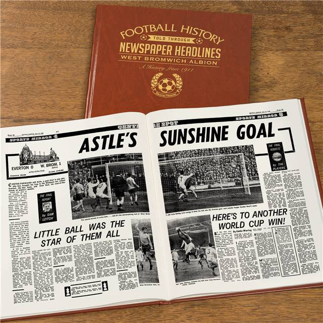 Personalised WBA Football Newspaper Book - Personalised Gift Solutions - 8