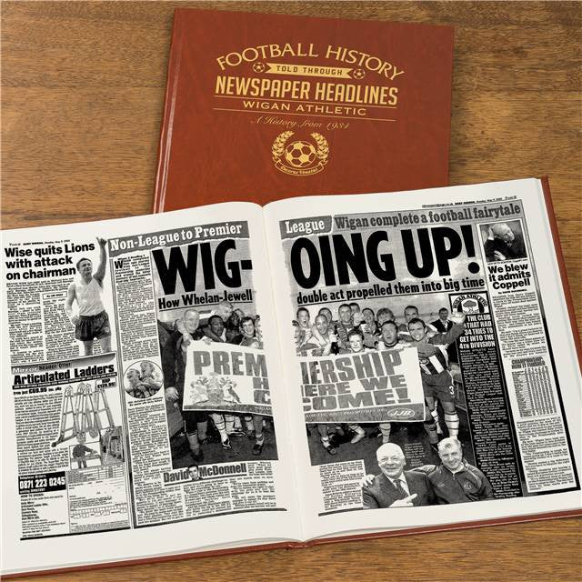 Personalised Wigan Football Newspaper Book - Personalised Gift Solutions - 8