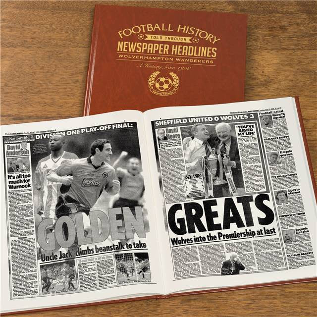 Personalised Wolves Football Newspaper Book - Personalised Gift Solutions - 8