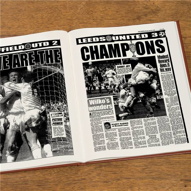 Personalised Leeds Football Newspaper Book - Personalised Gift Solutions - 8
