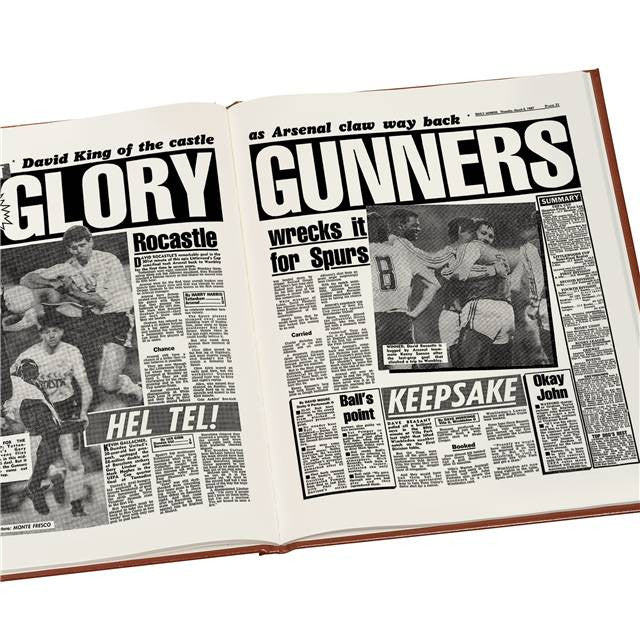 Personalised Arsenal Football Newspaper Book - Personalised Gift Solutions - 8