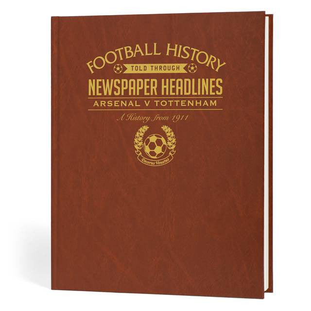 Personalised Arsenal V Spurs Derby Football Newspaper Book - Personalised Gift Solutions - 1