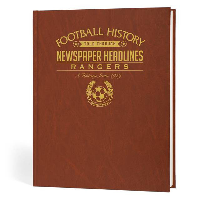 Personalised Rangers Football Newspaper Book - Personalised Gift Solutions - 1