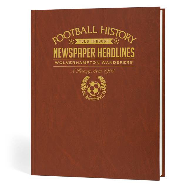 Personalised Wolves Football Newspaper Book - Personalised Gift Solutions - 1