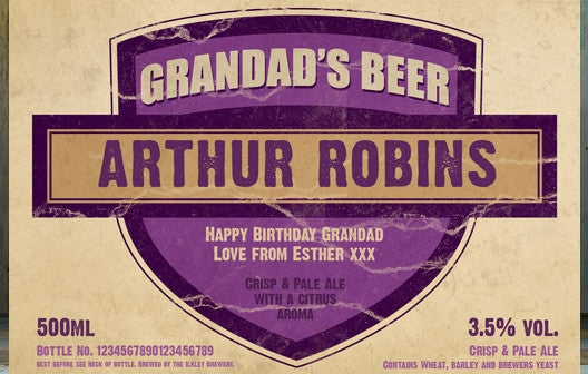 Personalised Beer 3 pack Grandad's Beer Set label - Personalised Gift Solutions - 3
