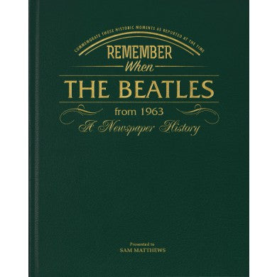 Personalised Beatles Newspaper Book - Personalised Gift Solutions - 1