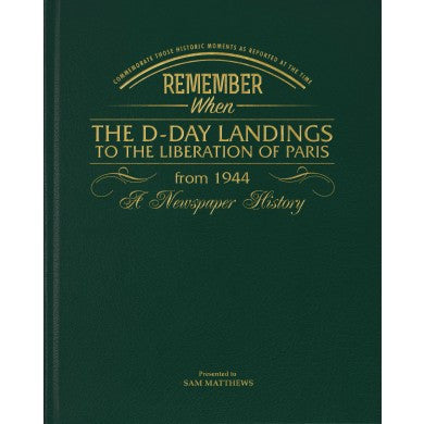 Personalised D – Day Landings Newspaper Book