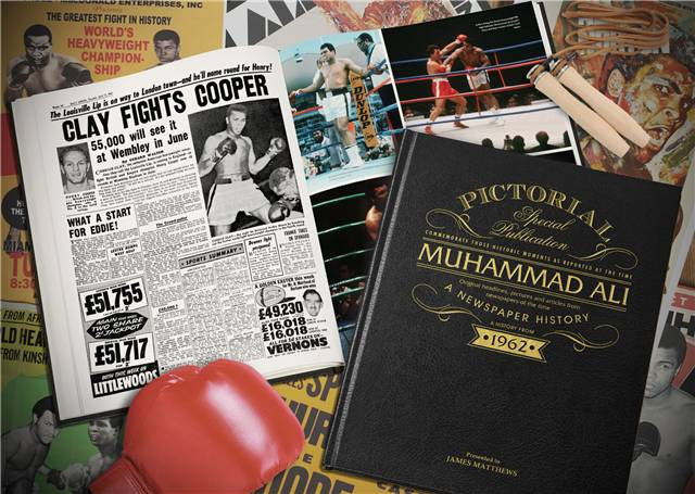 Personalised Muhammad Ali Luxury Newspaper Book - Personalised Gift Solutions - 2